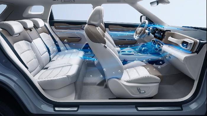 Mobil baru Geely Icon dilengkapi dengan fitur Sistem Pemurnian Udara Cerdas (IAPS) yang dikatakan bisa membunuh virus corona (Covid-19) di kabin.