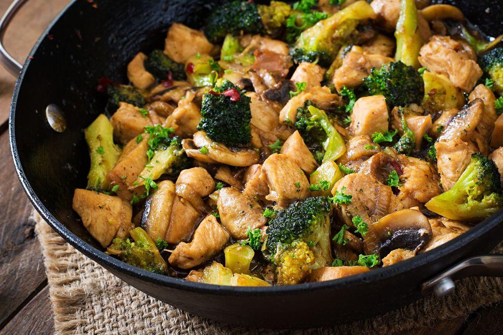 Ayam Tumis Jamur Brokoli