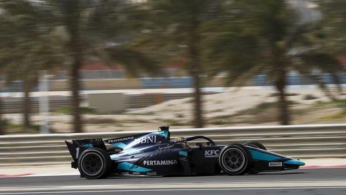 Sean Gelael jalani hari kedua tes pramusim F2 Bahrain, Senin (2/3/2020)