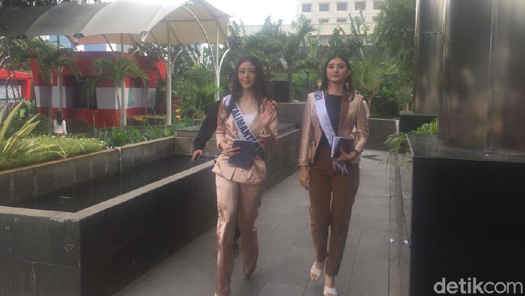 Tebar Senyum, 39 Finalis Putri Indonesia Sambangi KPK