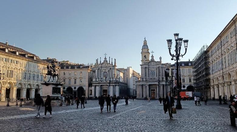 Pemandangan Kota Turin di Italia