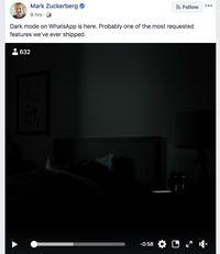 WhatsApp Dark Mode Rilis, Bos Facebook: Fitur Paling Dinanti
