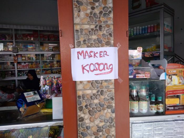Kelangkaan masker di Medan Sumut