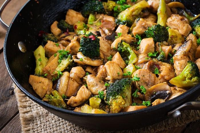 Tumis Ayam Jamur Brokoli