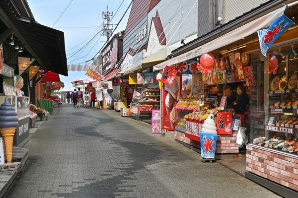 Di sepanjang jalan menuju ke puncak tebing, traveler akan menemukan berbagai macam toko yang menjual cenderamata dan makanan. (Foto: iStock)