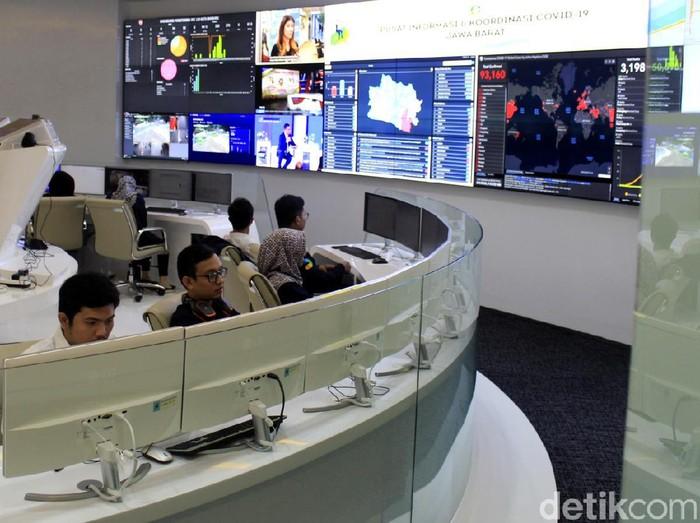 Command Center Jabar difungsikan sebagai Jabar Covid-19 Crisis Center atau Pusat Informasi dan Koordinasi Covid-19 Jabar (Pikobar). Yuk, intip!