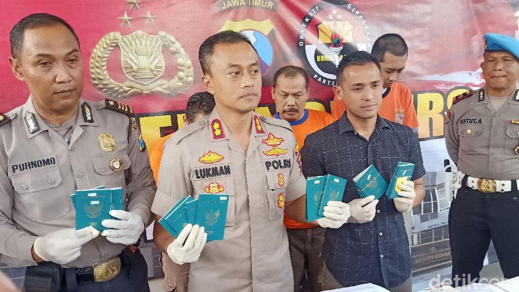 Tiga Pemalsu Dokumen untuk Pengurusan Paspor di Kediri Dibekuk