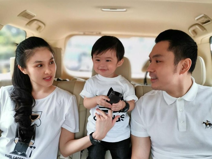 Suami Sandra Dewi, Raphael Moeis momong anak.