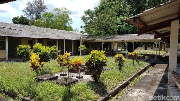 Bangunan yang akan menjadi RS Corona di Pulau Galang