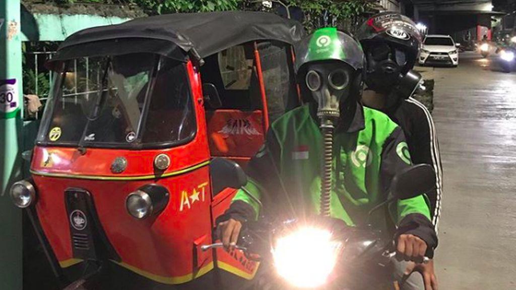 Terpopuler: Driver Ojol Pakai Masker Anti-nuklir, RX-King Rp 150 Juta
