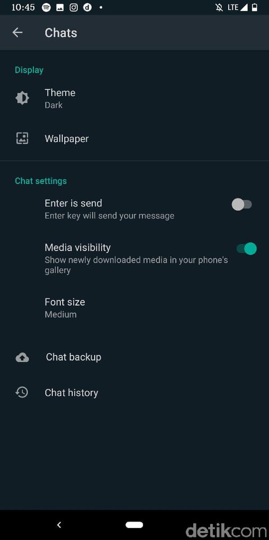 WhatsApp resmi merilis fitur dark mode bagi para pengguna setianya.