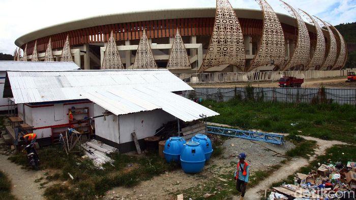 Papua kini punya stadion megah seperti SUGBK bernama Stadion Papua Bangkit. Yuk lihat kemegahan stadion yang akan digunakan untuk PON XX Papua.