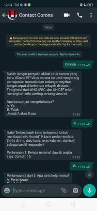 Kontak WhatsApp ini Untuk Tahu Update Teraktual Corona