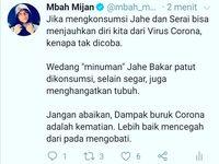 Jahe dan Serai Jadi Jamu Penangkal Corona ala Mbah Mijan