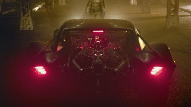 Sisi belakang Batmobile untuk film 'The Batman'