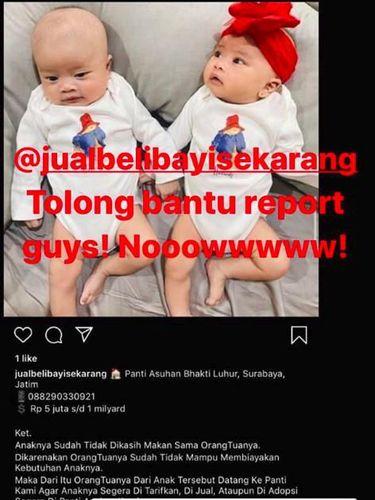 Foto Anak Kembarnya Diposting di Akun Jual Beli Bayi, Syahnaz Murka