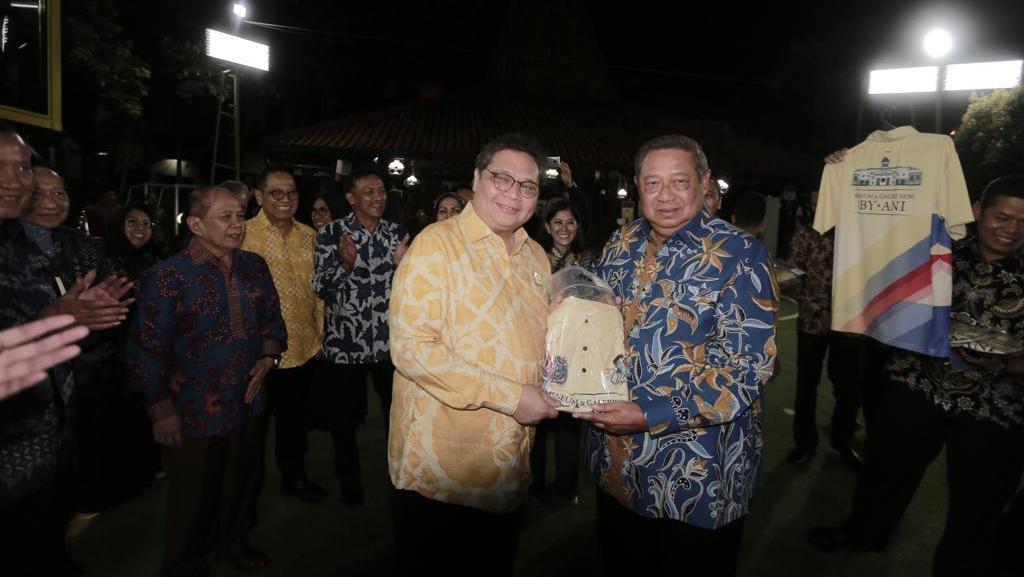 Temui SBY di Cikeas, Airlangga Bahas soal Omnibus Law dan Pilkada 2020
