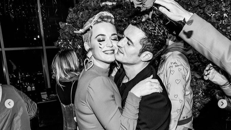 MONTE-CARLO, MONACO - SEPTEMBER 26:  Katy Perry and Orlando Bloom attend the Gala for the Global Ocean hosted by H.S.H. Prince Albert II of Monaco at Opera of Monte-Carlo on September 26, 2018 in Monte-Carlo, Monaco.  (Photo by Andreas Rentz/Getty Images)