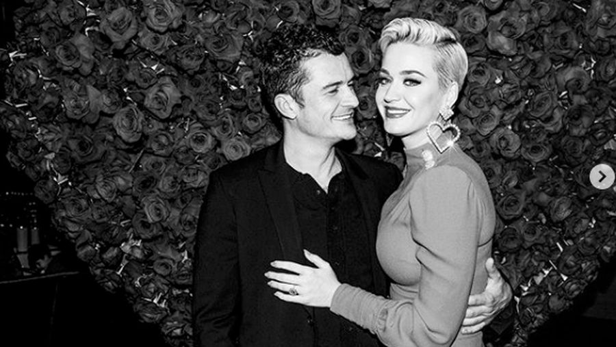 HOLLYWOOD, CALIFORNIA - AUGUST 21: Katy Perry and Orlando Bloom attend the LA premiere of Amazons