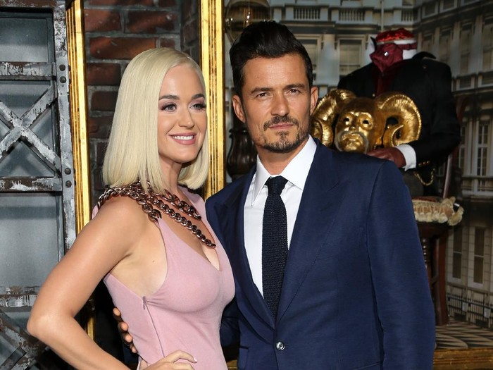 HOLLYWOOD, CALIFORNIA - AUGUST 21: Katy Perry and Orlando Bloom attend the LA premiere of Amazons Carnival Row at TCL Chinese Theatre on August 21, 2019 in Hollywood, California. (Photo by Phillip Faraone/Getty Images)