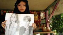 Susi Pudjiastuti Ingin Jadikan Febby Gadis Jago Gambar Anak Angkat