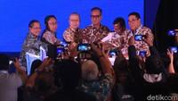 Menteri Perindustrian Agus Gumiwang resmi membuka pameran kendaraan komersial, Gaikindo Indonesia International Commercial Vehicle Expo (GIICOMVEC) di Jakarta Convention Center, Jakarta Pusat, Kamis (5/3/2020).