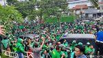 Momen Ribut Massa Ojol dan Debt Collector di Sleman