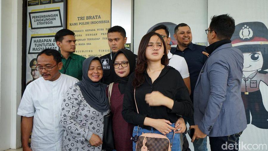 Syifa Hadju saat ditemui di Polsek Tangerang Selatan.