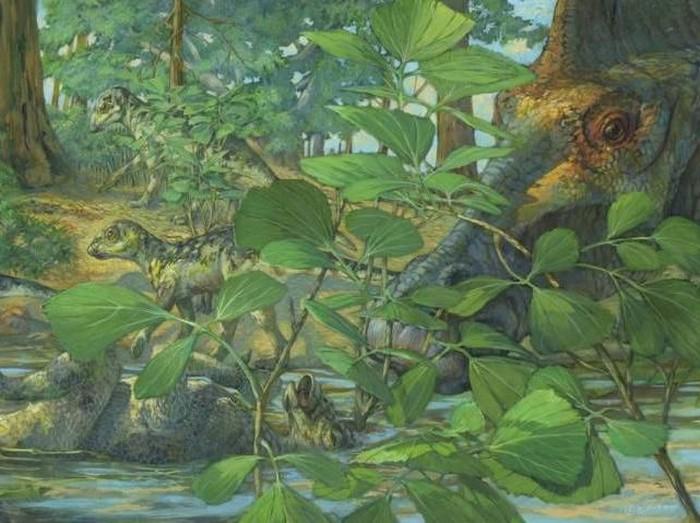 rekonstruksi dinosaurus Hypacrosaurus stebingeri