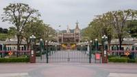 Disneyland Hong Kong Resort, taman rekreasi ini tutup pada 26 Januari lalu dan belum mengumumkan tanggal pembukaan kembali (Foto: CNN)