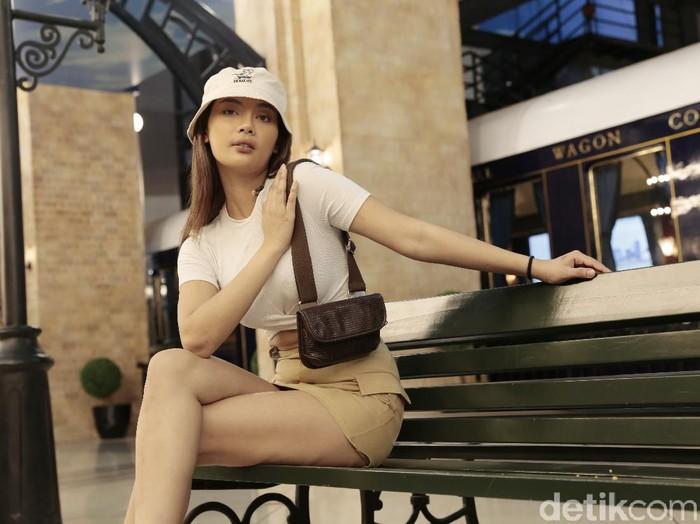 Erika Carlina saat ditemui di Trans Studio Cibubur.