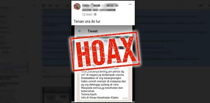 Hoax Virus Corona Yang Merajalela