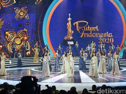 Finalis yang berhasil menjadi top 3 Puteri Indonesia 2020.
