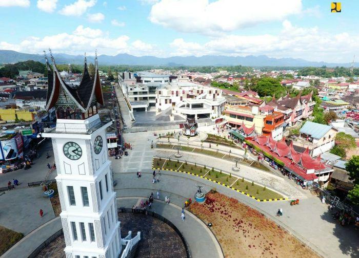 Kementerian PUPR kembali membangun Pasar Atas Kota Bukittinggi yang mengalami kebakaran hebat pada 30 Oktober 2017 lalu. Istimewa/Kementerian PUPR.
