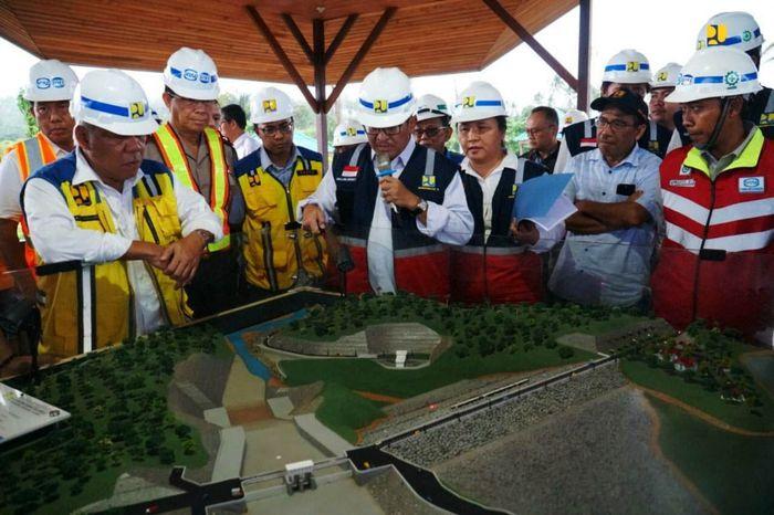 Pembangunan Bendungan Kuwil Kawangkoan ini merupakan bagian dari pengendalian banjir Kota Manado dan sekitarnya untuk debit banjir 470 meter kubik per detik. Istimewa/Kementerian PUPR.