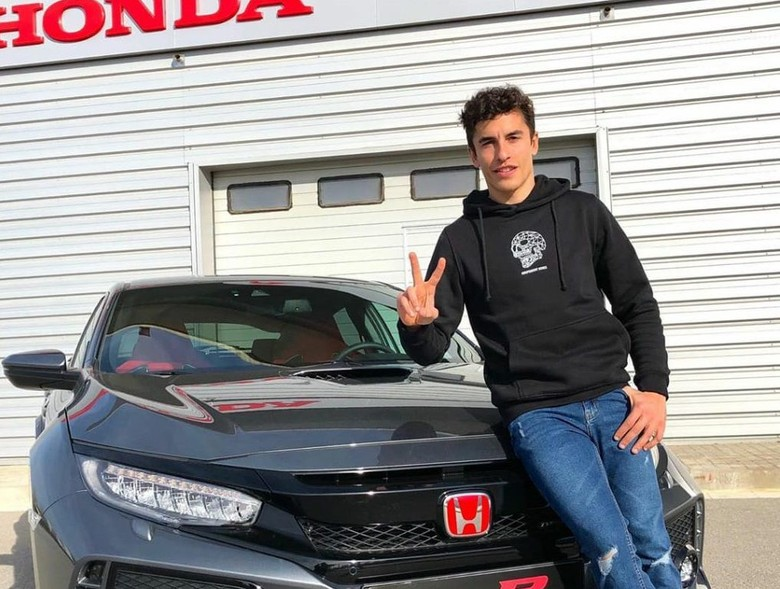 Marc Marquez dan mobil barunya Honda Civic Type R