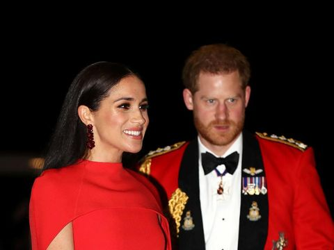LONDON, ENGLAND - MARCH 07: Prince Harry, Duke of Sussex and Meghan, Duchess of Sussex arrive at the Royal Albert Hall on March 7, 2020 in London, England. (Photo by Eddie Mulholland-WPA Pool/Getty Images)