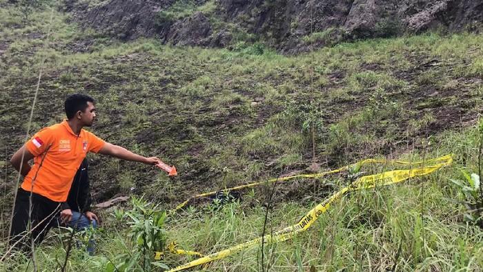 Lokasi tewasnya seorang pendaki di Gunung Batur.