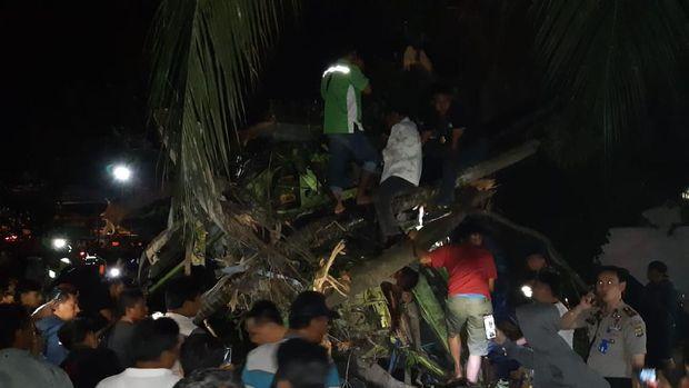 Kecelakaan maut di area Pelabuhan Bakauheni, Lampung menyebabkan 3 orang tewas.