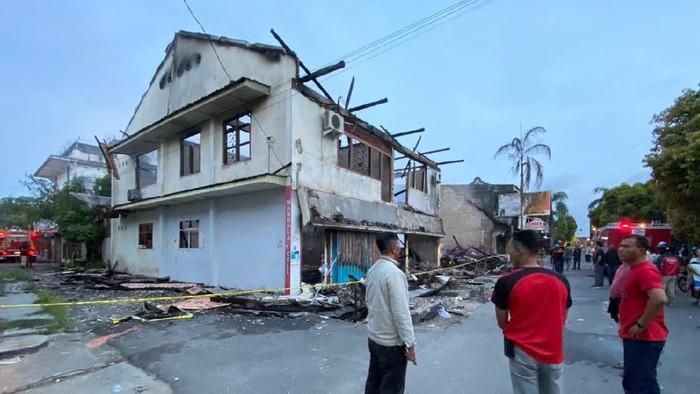 Lokasi kebakaran di Pasar Muntok, Kab Bangka Barat.