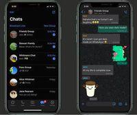 mode gelap whatsapp di iPhone