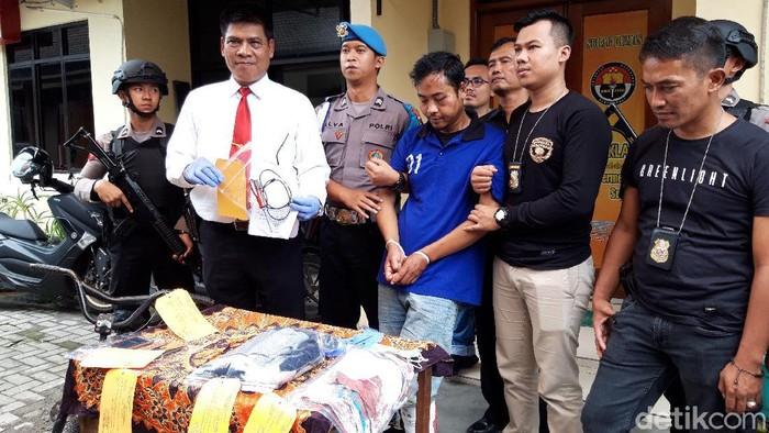Pelaku percobaan perampokan taksi online ditangkap Polres Boyolali, Senin (9/3/2020).