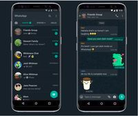 mode gelap WhatsApp di Android