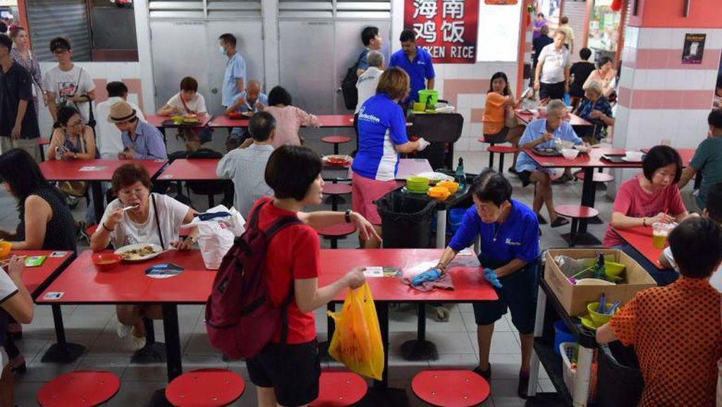 Sepi Karena Virus Corona, Food Center Ini Berikan Diskon Besar-besaran