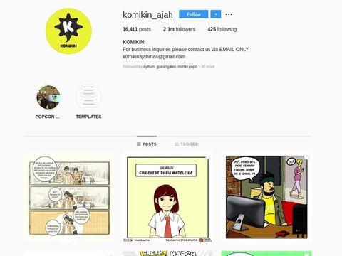 Komikin Ajah Populerkan Skena Komik Instagram