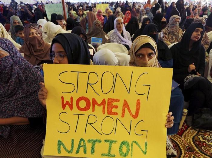 Peringatan Hari Perempuan Internasional dimanfaatkan untuk suarakan aspirasi para wanita di dunia. Beberapa di antaranya hapus kekerasan dan diskriminasi gender
