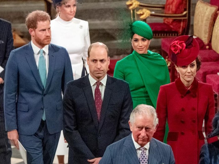 LONDON, ENGLAND - MARCH 09: Prince Harry, Duke of Sussex and Meghan, Duchess of Sussex attend the Commonwealth Day Service 2020 at Westminster Abbey on March 09, 2020 in London, England. The Commonwealth represents 2.4 billion people and 54 countries, working in collaboration towards shared economic, environmental, social and democratic goals.  (Photo by Gareth Cattermole/Getty Images)