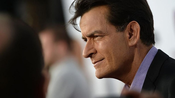 HOLLYWOOD, CA - APRIL 11:  Actor Charlie Sheen arrives for the premiere of Dimension Films Scary Movie 5 at ArcLight Cinemas Cinerama Dome on April 11, 2013 in Hollywood, California.  (Photo by Michael Buckner/Getty Images)