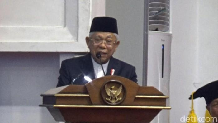 Wakil Presiden Maruf Amin di UNS, Solo, Rabu (11/3/2020).