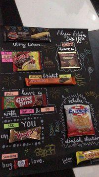 Sedang Ngetren, Kartu Ucapan Pakai Snack yang Digemari Netizen